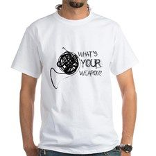 French Horn Weapon Shirt #marchingbandstuff #hornandcastle