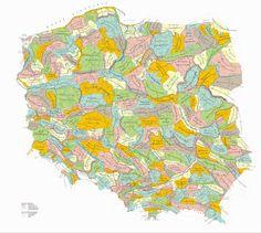 Znalezione obrazy dla zapytania polska mapa mikroregionów