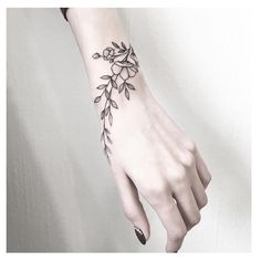 wrist tattoos with meaning, wrist tattoos for women, small wrist tattoos, unique wrist tattoos Unique Wrist Tattoos, Flower Wrist Tattoos, Wrist Tattoos For Women, Tattoo Designs For Women, Tattoos For Women Small, Tattoo Women, Small Tattoos, Tattoo Flowers, Wrist Hand Tattoo
