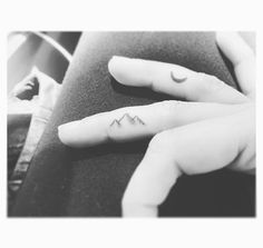 Ink   Tattoo   Tiny tattoo   Finger tattoo   Mountain   Moon   Wanderlust   Travel