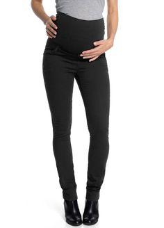 47cf597d6 Queen Mum Maternity Black Full Panel Skinny Jean