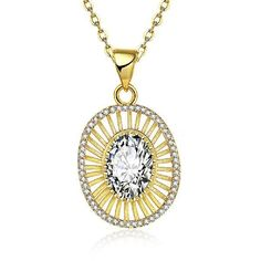 30% OFF! K Gold Zircon Classic Hollow Inlaid White Zircon Women Necklace KZCN136-A #madeinchina #necklace >http://dxurl.com/Rsq1