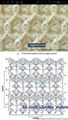 Trendy Ideas Crochet Gloves Tutorial Patterns Her Crochet Page 499055202458154906 Buzztmz - Diy Crafts Crochet Diagram, Crochet Chart, Crochet Motif, Free Crochet, Crochet Baby, Crochet Stitches Patterns, Knitting Stitches, Stitch Patterns, Knitting Patterns
