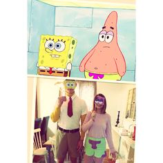 SpongeBob and Patrick DIY Couple Costume