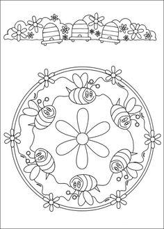 Desenhos para colorir para crianças. Desenhos para imprimir e colorir Mandalas 77
