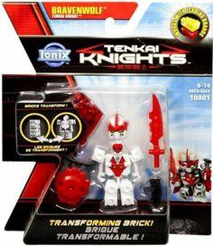 Amazon.com: Tenkai Knights Transforming Brick Minifigure #10001 Bravenwolf [Tenkai Knight]: Toys & Games