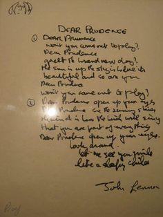 dear prudence, 1968.