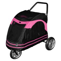 The black/pink Pet Gear Roadster Pet Stroller ** To view further, visit now : Dog strollers