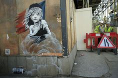 Banksy - Street art in Calais/France -  for the migrants' rights  -----ALASTAIR GRANT/AP