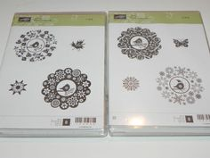 Stampin Up Four Seasons Clear Mount Hostess Stamp Set New 8 Stamps