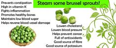 # Health Benefits of Brussels sprouts #  www.shopcookserve.com