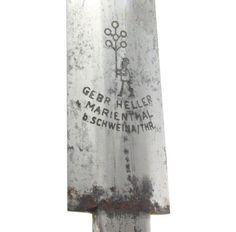 WWII GERMAN DAGGER Blade World War 2 Herr Wehrmacht Officer Gebr Heller