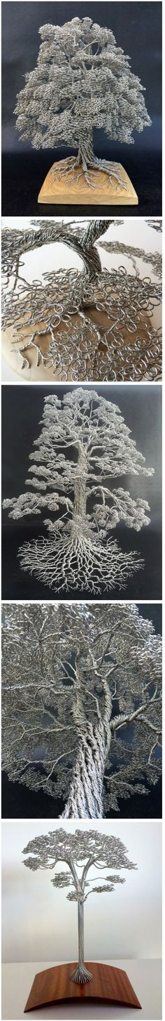 Artist Clive Maddison Tightly Winds Wire to Create Beautiful Tree Sculptures Without Adhesives