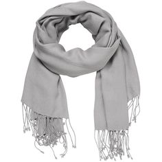 maurices Solid Scarf Wrap With Fringe ($16) ❤ liked on Polyvore featuring accessories, scarves, silver gray, gray scarves, fringed shawls, wrap scarves, grey scarves and gray shawl