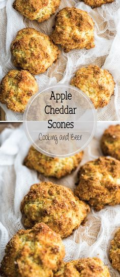 Apple Cheddar Scones with a Crusty Paprika Topping – Cooking and Beer Apple cheddar scones are the perfect example of a sweet and savory colliding into one. They are the perfect breakfast bites! Quick Bread Recipes, Beer Recipes, Brunch Recipes, Fall Recipes, Breakfast Recipes, Cooking Recipes, Apple Recipes, Breakfast Bites, Bonbon