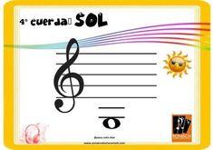 Cuerda al aire - SOL - 4° cuerda Musical, Sun, Major Scale, Twine