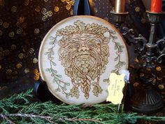 Made to Order Yule Altar Tile The Oak King by TheWhimsicalPixie11, $25.99