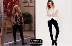 """Jennette McCurdy as Sam Puckett wears these Free People Lightweight Stretch Skinnies, in this weeks episode of Shake it Up, """"#TheBritBrats"""""""