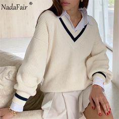 Casual Sweaters, Sweaters For Women, Cute Sweaters, Cute Oversized Sweaters, Varsity Sweater, Men Sweater, Preppy Sweater, Pullover Sweaters, Long Sweater Outfits
