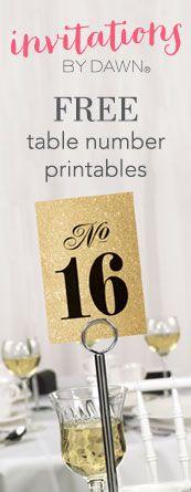 Free Table Number Printables