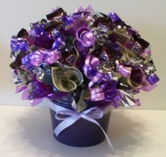 Candy Bouquets - Candy Gifts and Crafts, Candy Bouquets, Centerpieces, Handmade Crafts, Hand Painted Glassware/Bucket - ecomPlanet Web Hosting - the Free hosting solution worldwide Candy Arrangements, Candy Centerpieces, Shower Centerpieces, Money Bouquet, Gift Bouquet, Homemade Gifts, Diy Gifts, Candy Flowers, Candy Trees
