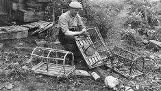 Tour Scotland Photographs: Old Photograph Fisherman With Lobster Creels Pittenweem East Neuk Of Fife Scotland