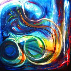 Mind.. 120/120cm Oil on canvas