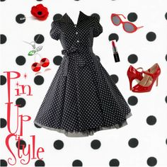 Pin Up Style #Polyvore #fashion