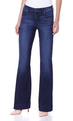 Create the illusion of mile-long legs with these @cjbycookie flare jeans!