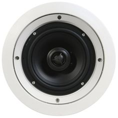 """SpeakerCraft - 6-1/2"""" In-Ceiling Speakers (5-Pack) - White - Larger Front"""