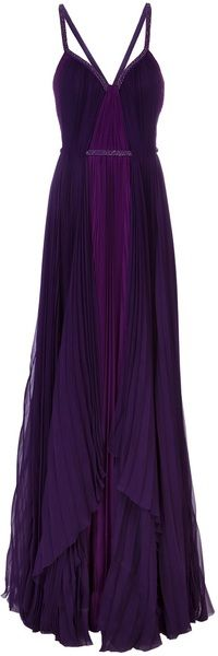 Pleated Sleeveless Gown - Lyst #pageantgown #missusa
