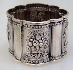 American Coin Silver Medallion Napkin Ring 1865