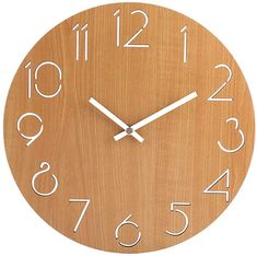 Buy Homingdeco Simple Country Style MDF Round Wall Clock Bedroom Living Room Brief Quarz Mute Clock Wall Decor 2 Color Available Wall Clock Silent, Wall Clocks, 2 Colours, Country Style, Wall Decor, Display, Living Room, Antiques, Simple