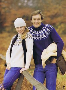 Fair Isle Knitting Patterns Men Women Jacket Sweaters Cardigans Pullovers Patons | eBay