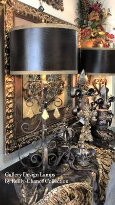 Brown Lamp Shades, Tuscan Decorating, Decorating Tips, Luxury Home Decor, Luxury Homes, Tuscan Dining Rooms, Buffet Lamps, Table Lamps