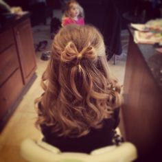 My nieces hair for her first dance! Her daddy/daughter dance!!! Perfect for any little girl!