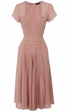 Pleated Bodice Skirt Midi Dress - doesn't look like much by itself, but I know this would look amazing on! Pleated Midi Dress, Pleated Bodice, Midi Skirts, Midi Dresses Uk, Pink Midi Dress, Pleated Shorts, Chiffon Dresses, Midi Dress With Sleeves, Long Sleeve Midi Dress
