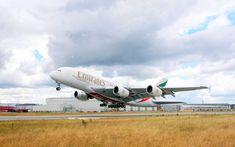 Wallpaper Emirates Airbus Airbus A380 Aircraft plane
