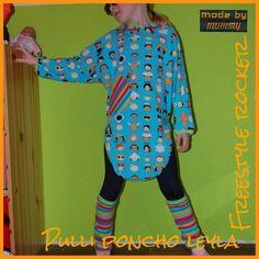 Freebook - Pulli-Poncho Leyla Gr. 74 - 152