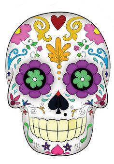 Dia de Los muertos  I'm not sure why but I am loving sugar skulls