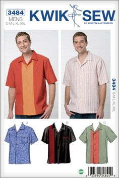 Our favorite Bowling Shirt pattern for Dad!