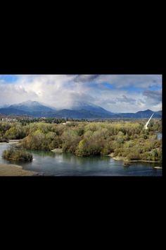 Sacramento River, Redding , Ca. White water rafting 1992 Nationals.
