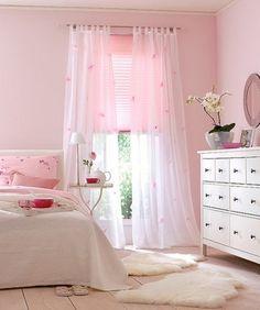 Para un espacio 100 % femenino los tonos sutiles de rosa siempre funcionan.