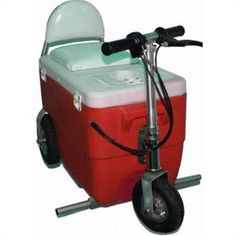 Cooler Ice Chest Electric Scooter 50 Quart Beverage Soda Pop Beer Tailgate Party
