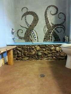 i've seen this idea in wall decals, but i love the mosaic approach, too.