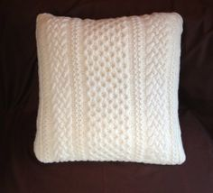 large made in Scotland cable knit sweater pillow by morningtearose, $33.00