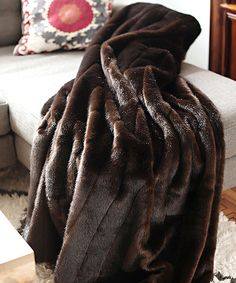 Love this Sable Faux Fur Throw by Donna Salyers' Fabulous-Furs on #zulily! #zulilyfinds