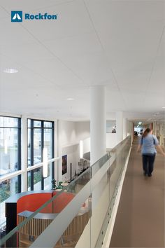 The Nursing home of the Future in the northern tip of Denmark took a new approach to how them surrounding city could become a bigger part of the daily life inside. Rethinking the architecture also meant that noise and acoustics had to be considered carefully. Rockfon Sonar X acoustic ceiling tiles were installed in all the common areas and corridors in the building ensuring optimal noise control. #danishdesign #acousticceiling #architecture #healthcaredesign #interiordesign #acoustics Acoustic Ceiling Tiles, Design A Space, Healthcare Design, Common Area, Ceiling Design, Danish Design, Future House, Denmark, Nursing