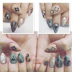 Black | Southwestern Nail Decal | Southwestern Nails | Western Nails | Skull Nails | Cactus Nails | Tribal Nails | Aztec Nails | Nail Art | Nail Decals Shop Nail Decals Weloveglitterdesign.com