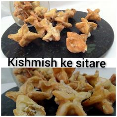 When we make gujhiya and shakarpar, some dough is left over and then my mother-in-law used that dough in making these cute little raisins stars. She was a very good cook and as a person she was an amazing lady, I miss her always. Amazing Recipes, Delicious Recipes, Great Recipes, Good Food, Yummy Food, Fun Cooking, Raisin, Bon Appetit, Food Hacks